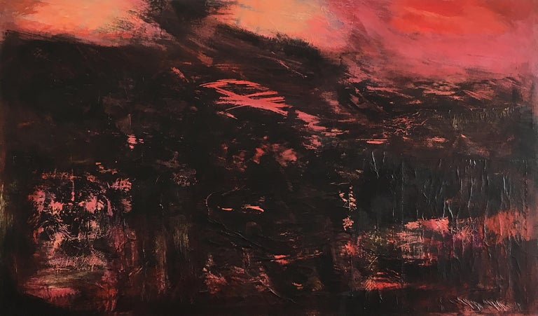 Joyce Barker-Schwartz Abstract Painting - Large Abstract Mixed Media Painting on Canvas: 'Paradise'
