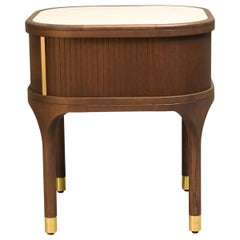 Joyce Bedside Table, Made of Ashwood and Brass