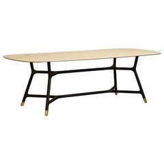 Joyce, Table Made of Ash Wood with Marble Gres Top