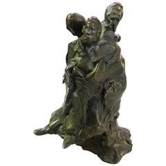 Joyce Treiman California Artist Rare Signed Modern Bronze Sculpture