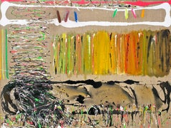 Abstract oil painting, Joyce Weinstein, January Ancramdale Fields