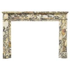 Joyful Breche Louis XVI Fireplace Mantel in Breche Marble