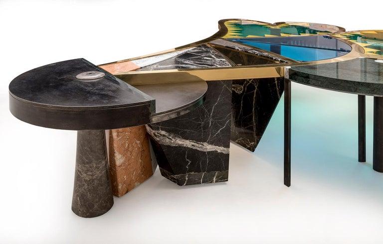 Joyful Marble Coffee Table by Sema Topaloglu For Sale 1