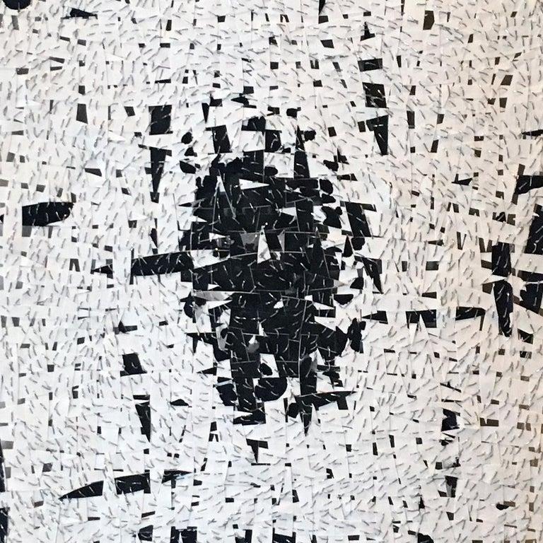 Fingerprint 3 - Gray Abstract Sculpture by Jozef Bajus