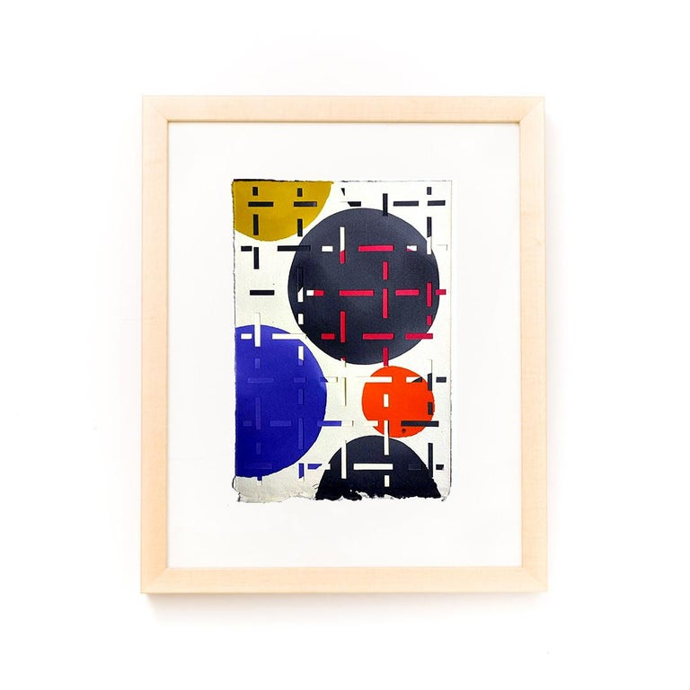 An pair of unique mixed media cut paper and paint works by Jozef Bajus.  These works come in an archival natural wood frame presentation.  ozef Bajus is an award winning mixed media artist. Originally from Slovakia, Bajus received his MFA from the