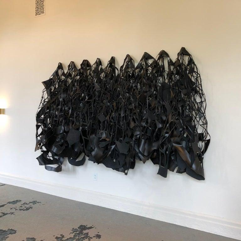 Toccata Und Fugue - Black Abstract Sculpture by Jozef Bajus