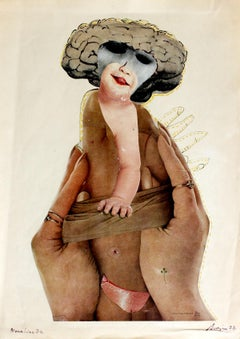 Mona Lisa - Polish art master, classic, Surreal figurative collage