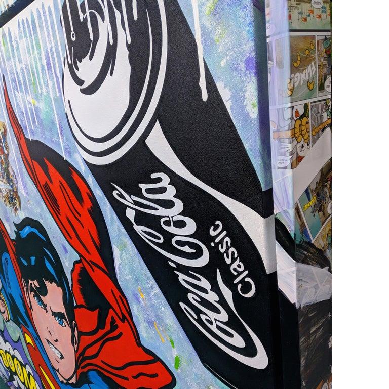 THE BIG BOOM! (SUPERMAN) - Street Art Mixed Media Art by Jozza