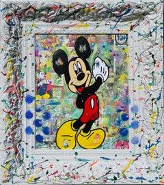 Jozza ** Wow Mickey ** Original Acrylic On Canvas