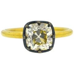 JR 2.27 Carat Old-Cut Diamond Ring in 18 Karat Gold