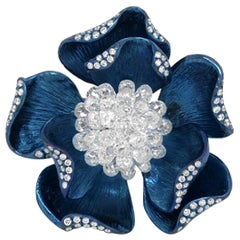 JR 4.26 Carat Diamond Briolette Titanium Flower Ring