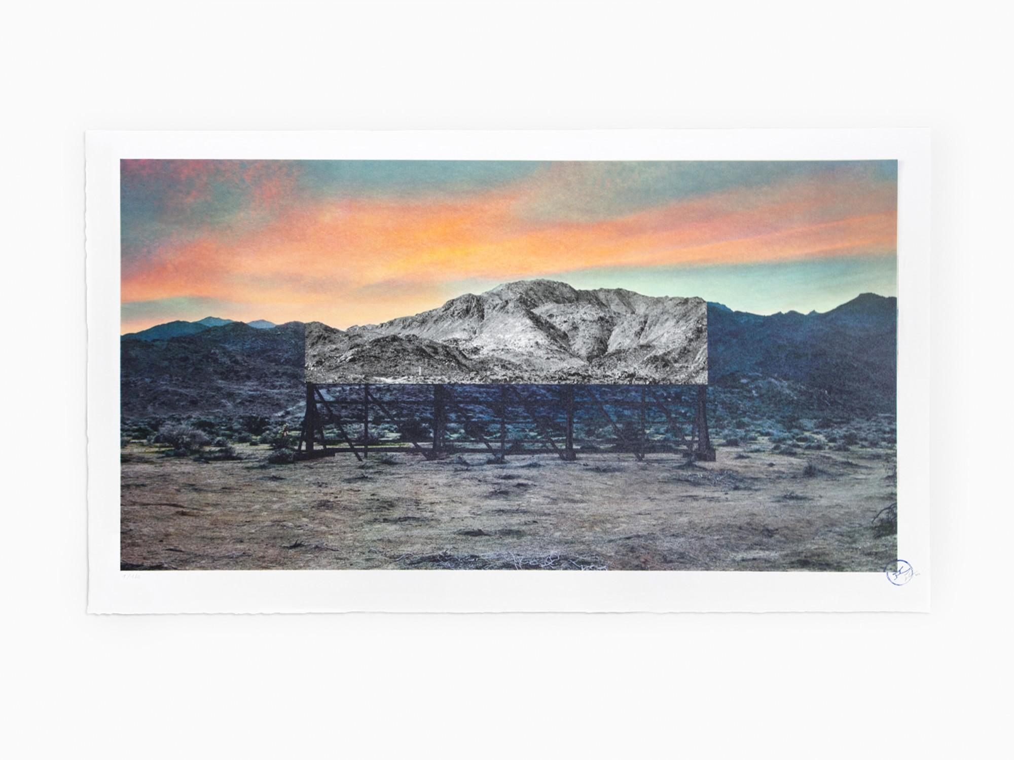 Trompe l'oeil, Death Valley, Billboard, March 4, 2017, 5:41 pm, California, USA