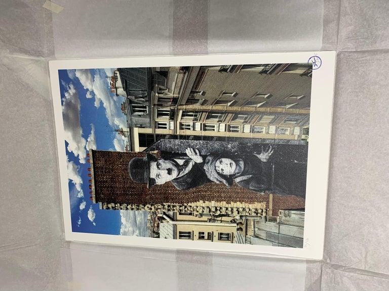 Charlie Chaplin revu par JR, The Kid, Charlie Chaplin & Jackie Coogan - Print by JR artist
