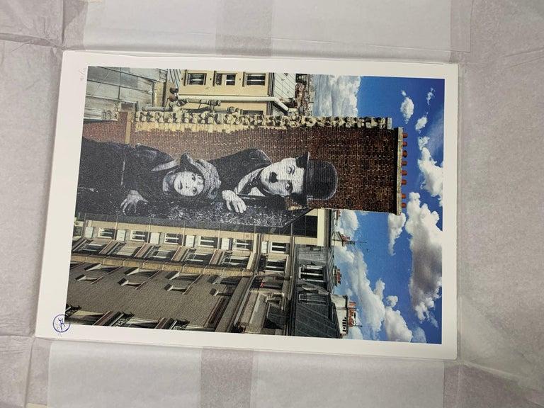 Charlie Chaplin revu par JR, The Kid, Charlie Chaplin & Jackie Coogan - Photorealist Print by JR artist