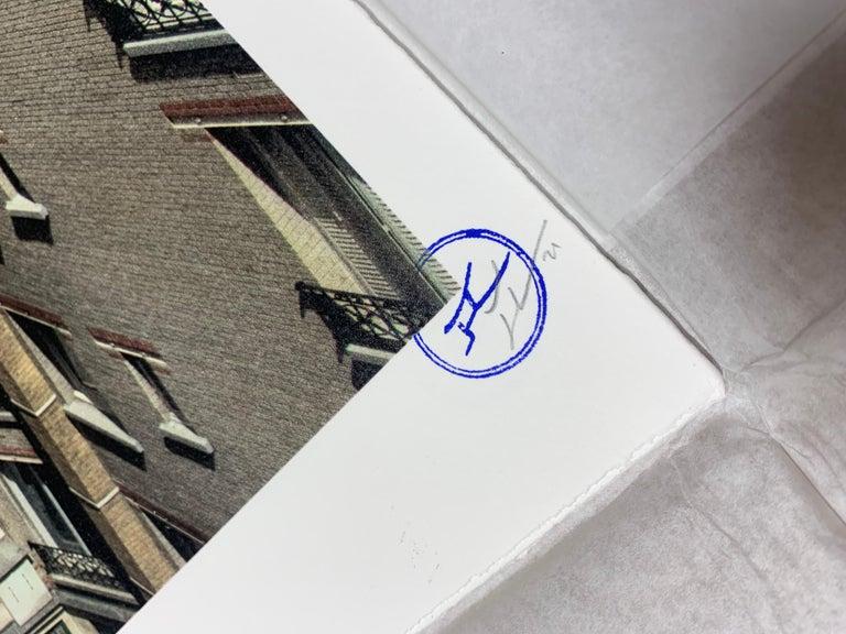 JR Unframed, Charlie Chaplin revu par JR, The Kid, Charlie Chaplin & Jackie Coogan, USA, 1923, de jour Paris, 2021 16 colors lithograph printed on Marinoni machine White paper BFK Rives - 300 grammes Edition of 180 70 x 50 cm  (27.6 x 19.7