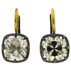 JR Old-Cut Diamond Earrings in 18 Karat Gold
