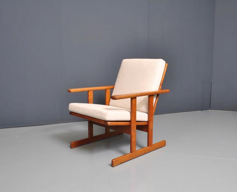 Mid-Century Modern Jørgen Baekmark, Early Oak Armchair For Sale