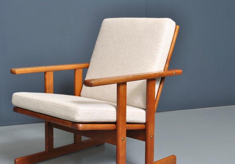 Danish Jørgen Baekmark, Early Oak Armchair For Sale