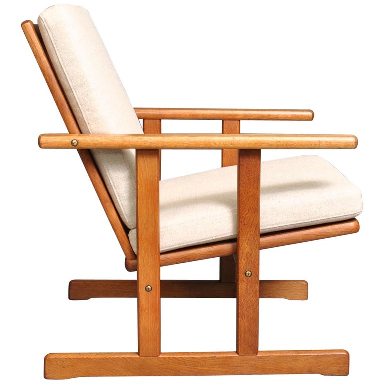 Jørgen Baekmark, Early Oak Armchair For Sale