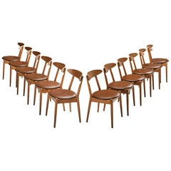 Jørgen Bo and Vilhelm Wohlert Set of Twelve  'Louisiana' Dining Chairs