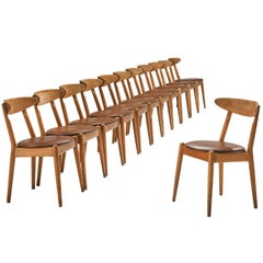 JørgenBo and VilhelmWohlert Set of Twelve 'Louisiana' Dining Chairs
