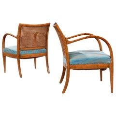 Jørgen Christensen a Pair of Nut Wood Armchairs, 1929