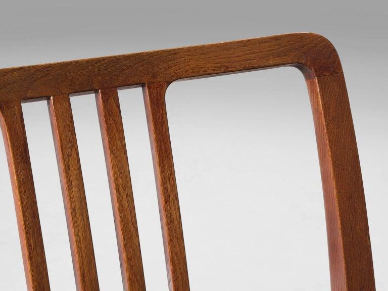 Mid-20th Century Jørgen Christensen Set of Eight Original Cognac Leather Chairs For Sale