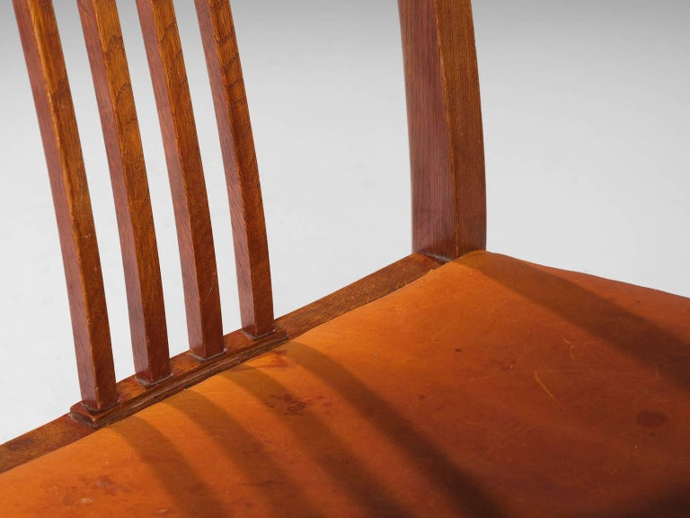 Jørgen Christensen Set of Eight Original Cognac Leather Chairs For Sale 2