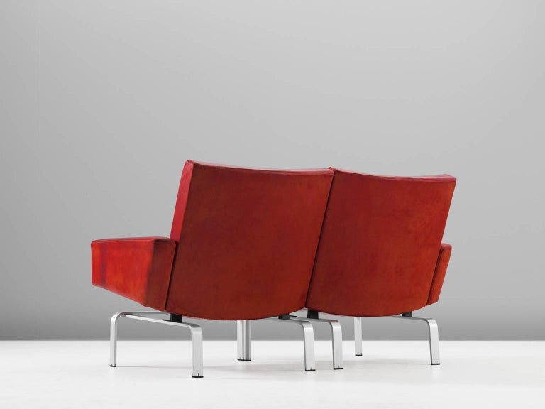 Danish Jørgen Høj Cognac Leather Two-Seat Sofa For Sale