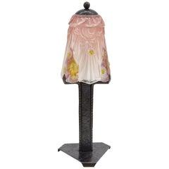 J.Robert / Hanots French Art Deco Table Lamp, 1920s. Signed