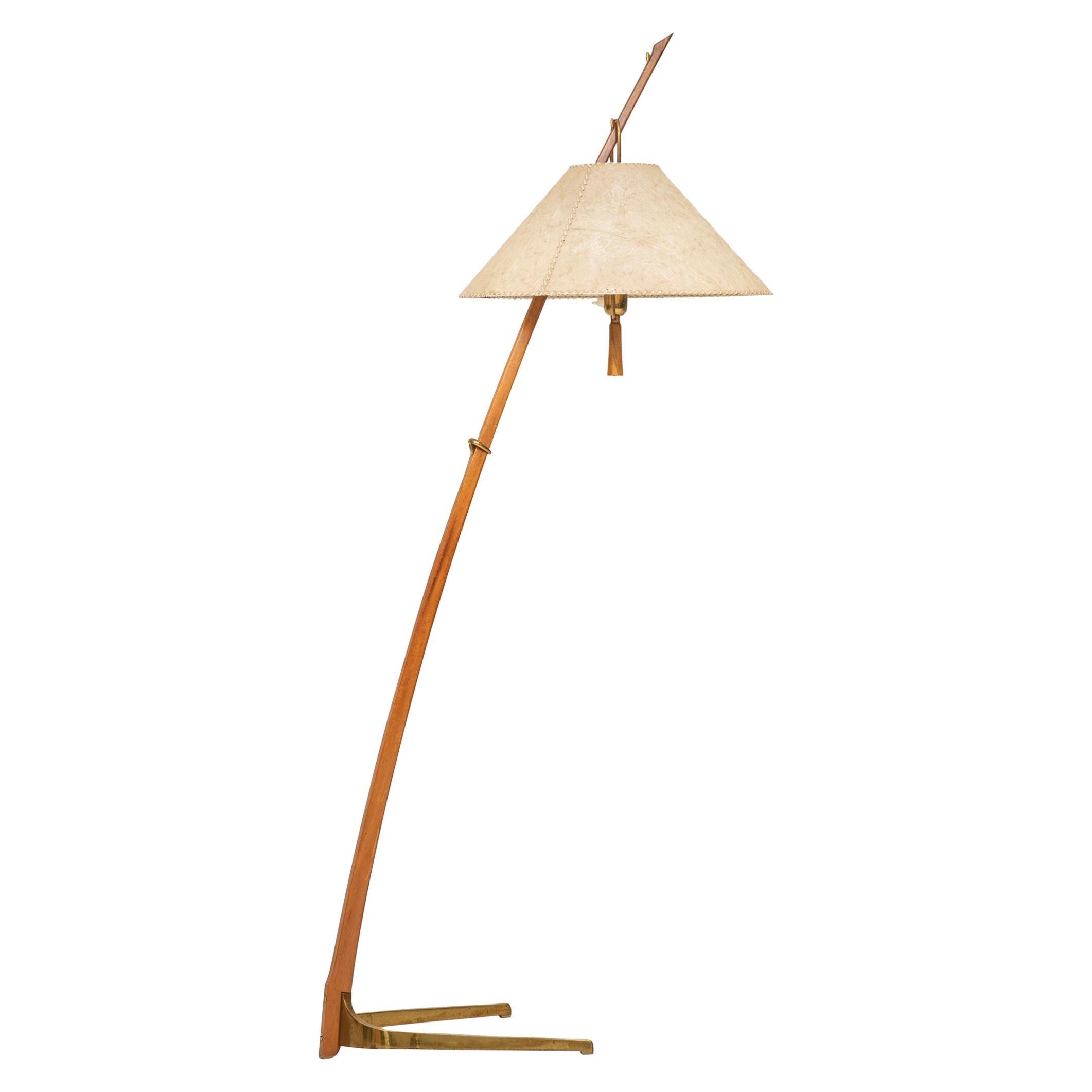 J.T Kalmar & A. Pöll Floor Lamp Model 2076 / Dornstab by J.T Kalmar in Vienna