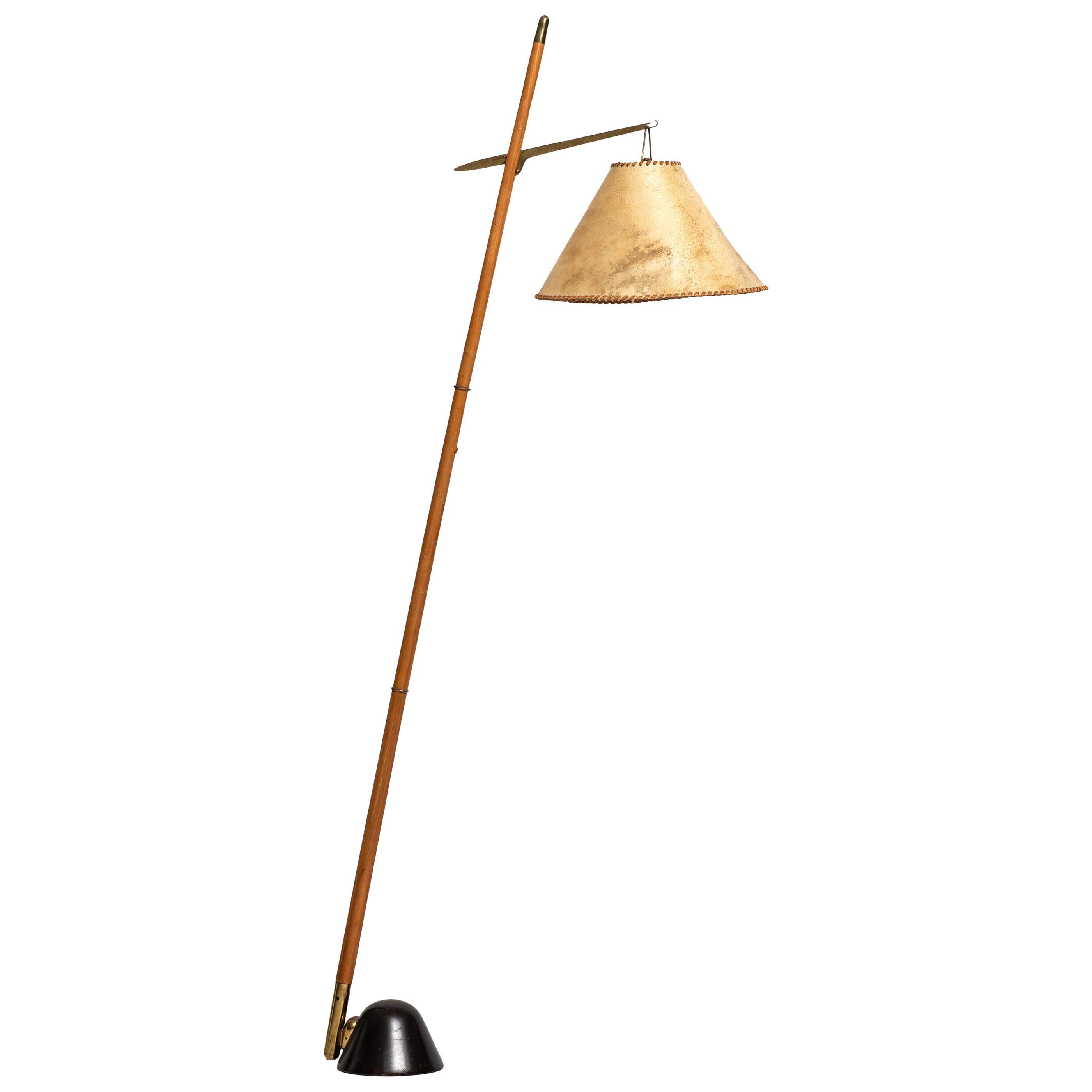 J.T Kalmar Attributed Floor Lamp by J.T Kalmar in Austria