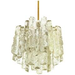 J.T. Kalmar Chandelier Mid-Century Modern 'Ice Glass', 1960s