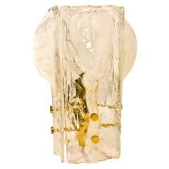 J.T. Kalmar Four-Petal Icicle Flower, Melting Glass Table Lamp