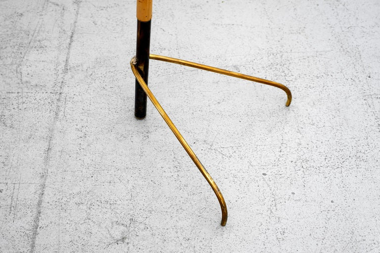 Bamboo J.T. Kalmar Style Floor Lamp For Sale