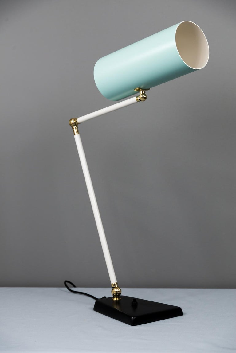 Metal J.T. Kalmar Table Lamp, Vienna, circa 1960s For Sale