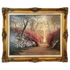 Juan Archuleta Gates and Garden Painting