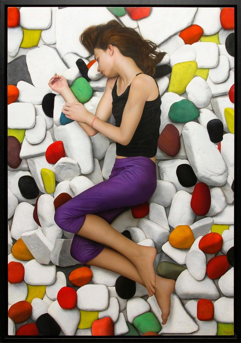 "Juan Cossio ""Solid Dream"" 51 x 33 inch Mixed Media on Panel - Mixed Media Art by Juan Cossio"