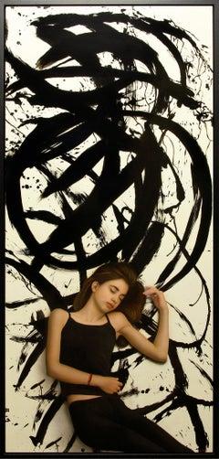 """Juan Cossio """"Zen Dream"""" 71 x 32 inch Mixed Media on Panel"""