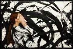 """Juan Cossio """"Zen Dream II"""" 30 x 45 inch Mixed Media on Panel"""