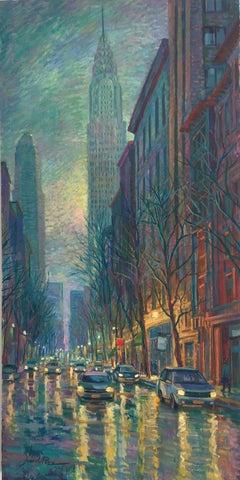 After Storm New York original city landscape painting Contemporary Art 21st