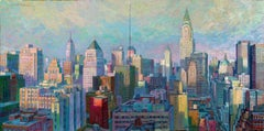 Manhattan Afternoon original New York cityscape Panorama painting