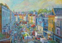 Portobello Colors - original cityscape painting contemporary art 21st century
