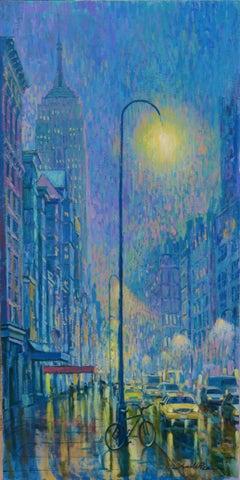 Rainy Nights New York original city landscape painting