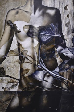 Dionisio III (Contemporary Painting of Greek God Dionysus in Blue and Gray)