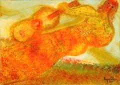 Guitarista, Oil Painting by Juan Garcia Ripolles 1970