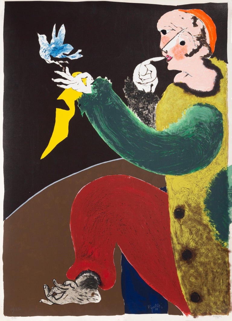 Arlequin Juan Garcia Ripolles, Spanish (1932) Date: 1981 Screenprint, signed and numbered in pencil Edition of 75 Size: 41.5 in. x 30.5 in. (105.41 cm x 77.47 cm)