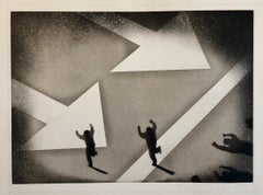 1970 Silencio, Direccion Unica, One Way Spanish Political Etching Pop Art Print