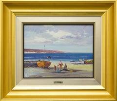 """""""Seascape II"""" by Juan Gonzalez 10 x 13 inches Oil on Board"""