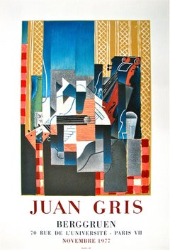 Bergguen by Juan Gris - colorful modern lithographic poster